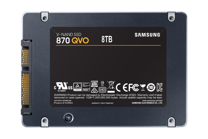 """""""Samsung"""" pristatė 8 terabaitų """"SSD 870 QVO"""" duomenų kaupiklį"""