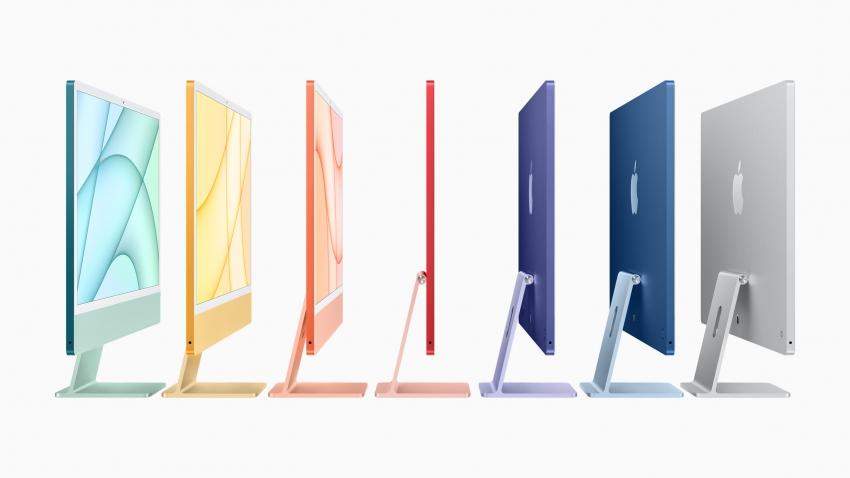 """Vakar pristatytos """"Apple"""" naujienos: naujų spalvų """"iMac"""" kompiuteris, daiktų sekiklis ir nematytas """"iPhone"""""""